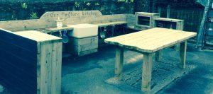 Our outdoor Textured Kitchen
